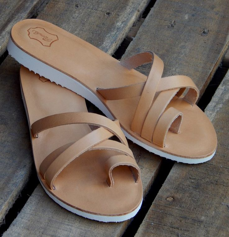 Handmade leather sandal IPHIGENIA ..... natural .....