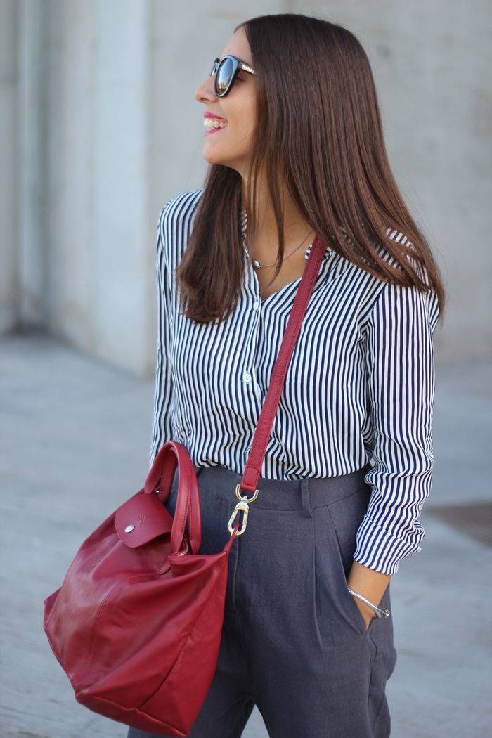 Fashion outfit with Longchamp Le Pliage bag #street #style #ss2016