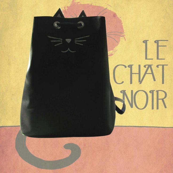 Le chat Backpack now in black, order it!! Whatsapp: 3215012513 Le chat Backpack ahora en negro, pidelo al whatsapp: 3215012513