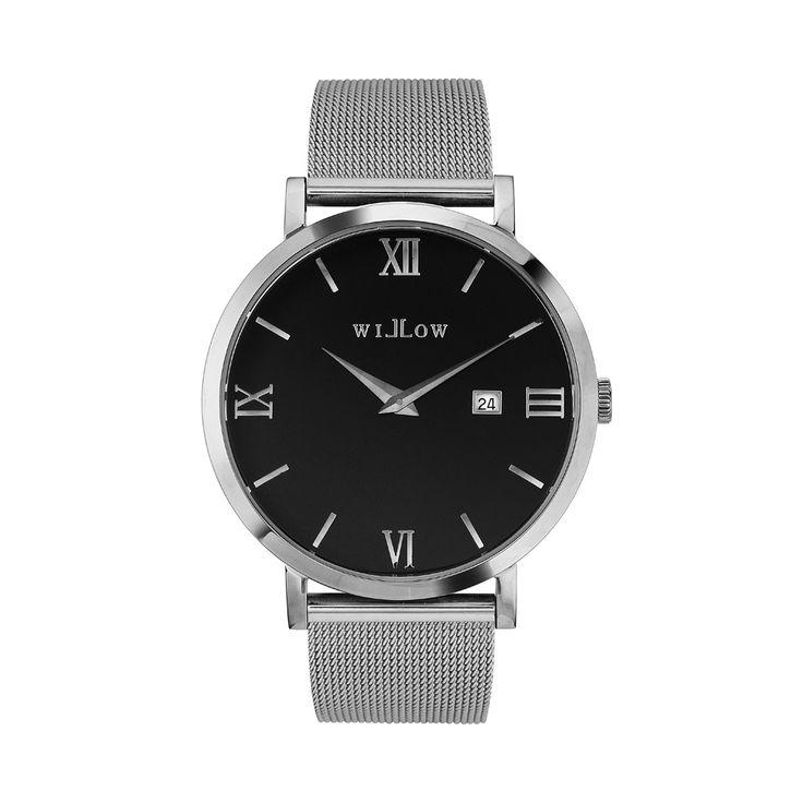 Treviso Silver Watch & Interchangeable Silver Mesh Strap.