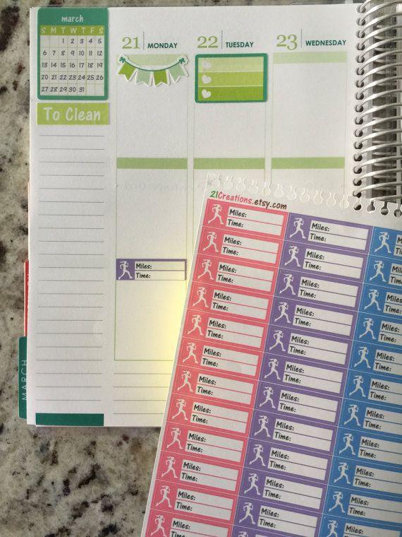 Running Planner Stickers Running Tracker Erin by 21Creations