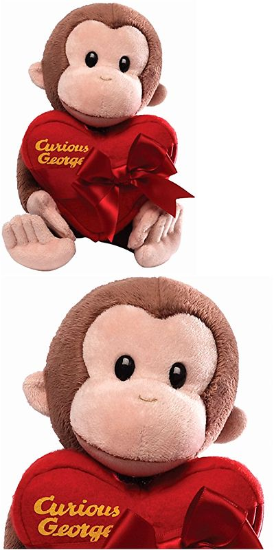 Curious George 19215: Valentine S Day Gift Special - Holding Heart Stuffed Animal - Surface-Washable -> BUY IT NOW ONLY: $31.84 on eBay!