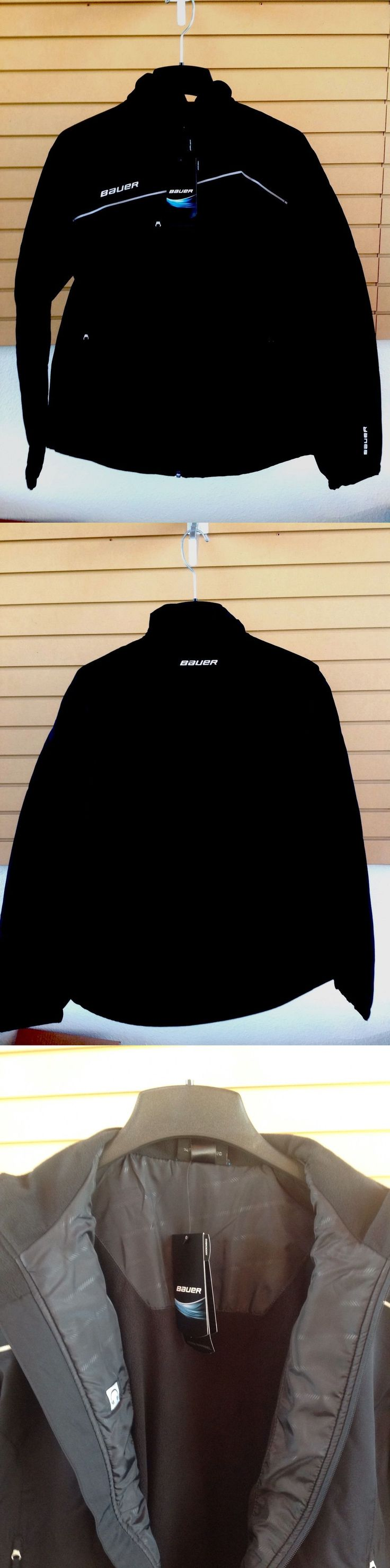 Men 159122: Bauer Hockey Black Midweight Warmup Jacket Size Adult Senior -> BUY IT NOW ONLY: $53 on eBay!