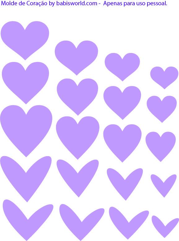 Molde do Dia: Corações