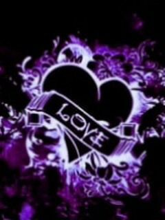Download Free Black Purple Love Mobile Wallpaper Contributed By Imbest