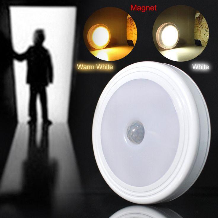 ホット磁気赤外線pir自動motionセンサー5 ledウォールライトナイトライトスマート検出器ランプ廊下寝室のクローゼット