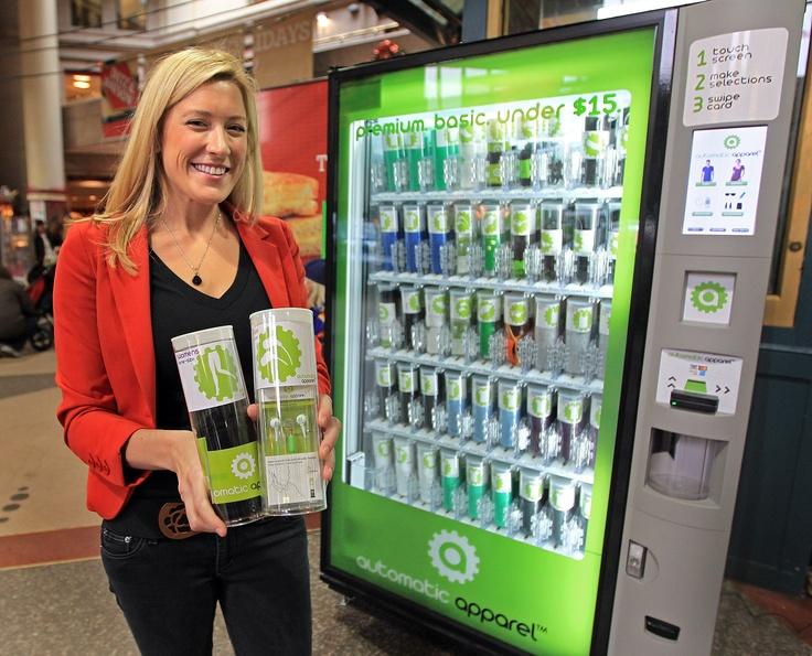 Automatic Apparel Vending Machine - Tshirts, electronics ...