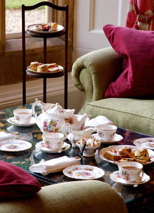 Afternoon tea at Lords of the Manor, Cotswolds.