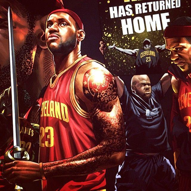 """ถูกใจ 83 คน, ความคิดเห็น 2 รายการ - HYPER-3 (@hyper_three) บน Instagram: """"#lebronjames #cleaveland #cavaliers #23"""""""