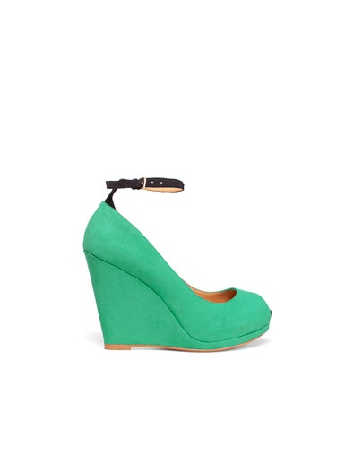 Zara - great website for cool shoes: Minty Wedges, Zara Wedge, Wedge Shoes, Color, Lined Wedge, Shoe Wh0Re, Navy Shoes, Shoes Shoes