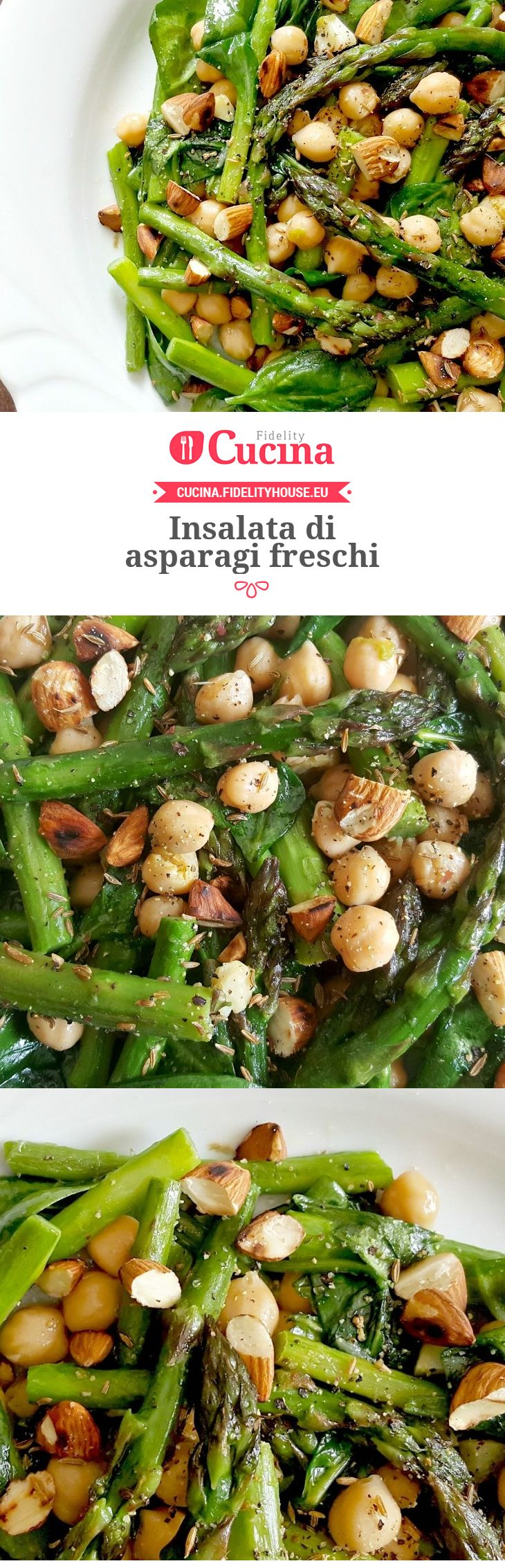 Insalata di asparagi freschi