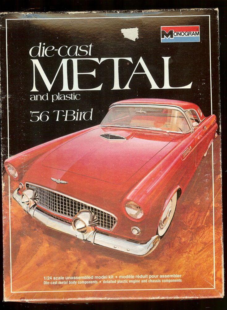 Monogram Metal Car Kit 56 T Bird 1 24 Scale 6101 Car