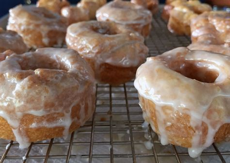 Alton Brown's Hot Glazed Bonuts Recipe: If you think you recognize this mixture from a certain biscuit recipe featured on a certain TV show, you'd be right. The difference: I fried it and glazed it. You're welcome.