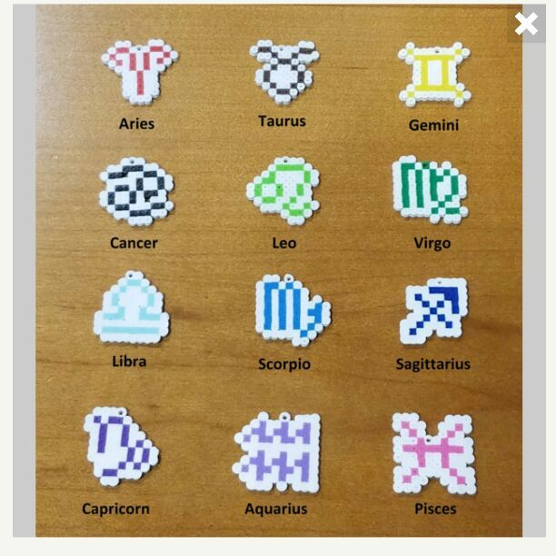 This is a listing for a single, brand new zodiac (any of the 12) keychain/ornament/magnet/pin/lanyard based off of the twelve western zodiac signs. Each of the pieces are made of mini perler beads and can be as is or can be made into a keychain, ornament, magnet, pin, lanyard at no additional charge. The size is approximately 1.00 inches x 1.00 inches. The full set of all 12 zodiac signs is available for $20.00. Price is negotiable. If there is a perler piece/keyc...