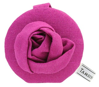 The Rose Corsage mirror has a crisp 100% cotton linen outer, and is gorgeously embellished with the handcrafted Rose Corsage design.