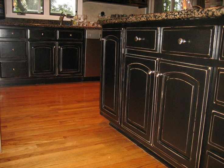 1000 ideas about black distressed cabinets on pinterest for Kitchen cabinets 999