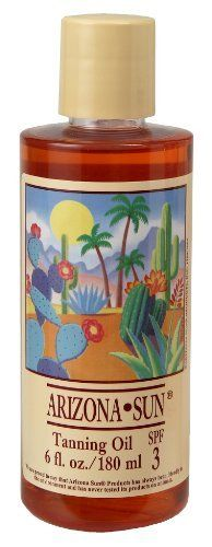 Arizona Sun Tanning Oil SPF 3 - 6 oz - Natural Products With Aloe Vera and Plants and Cacti From the Desert - Moisturizing Mineral Oil - Deep Dark Tan by Arizona Sun. $9.50. Recommended for the person who rarely burns and tans well. Made from plants and cacti from the desert. Desert floral fragrance. Tanning Oil for a deep, dark, long-lasting tan. Absorbs easily into the skin - SPF 3. Our tanning oil is specially blended with cacti, plants, and natural sun protectants.  Prov...