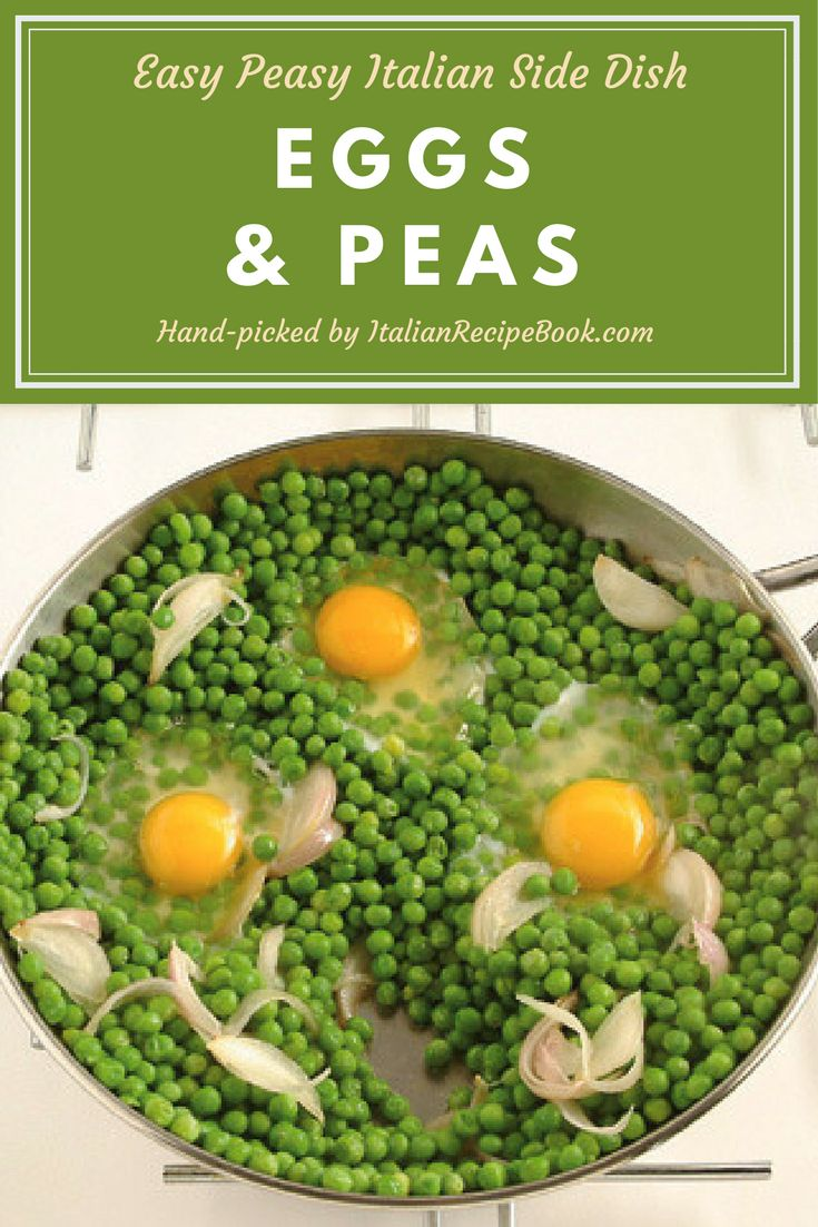 Eggs and Peas – Yummy and Easy Side Dish Recipe