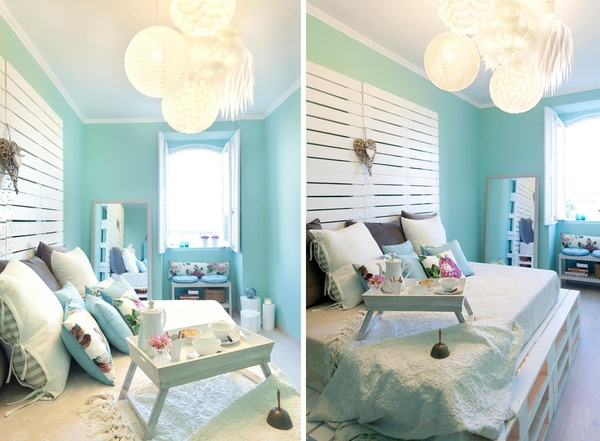 cama feita de paletes