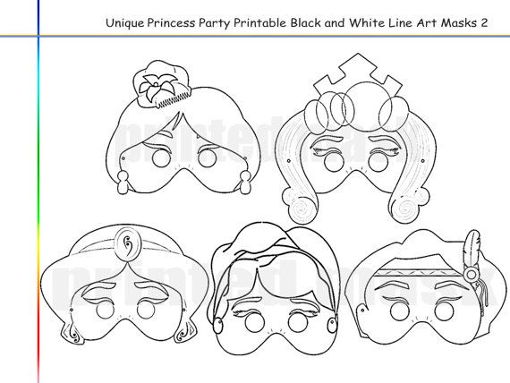 Coloring Pages Princess Party Printable Black And White