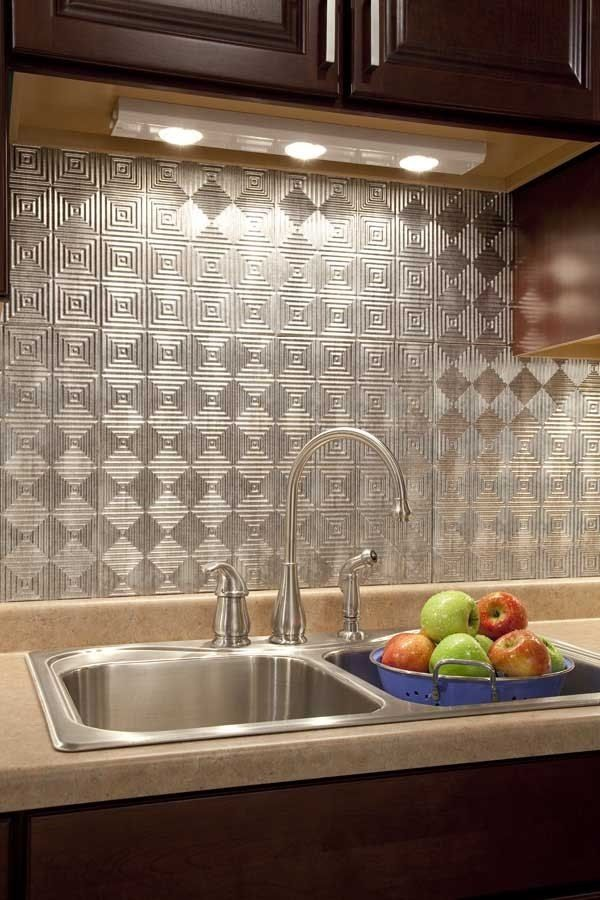 backsplash lighting. Modern Kitchen Backsplash Ideas Metal Tiles Under Cabinet Lighting A