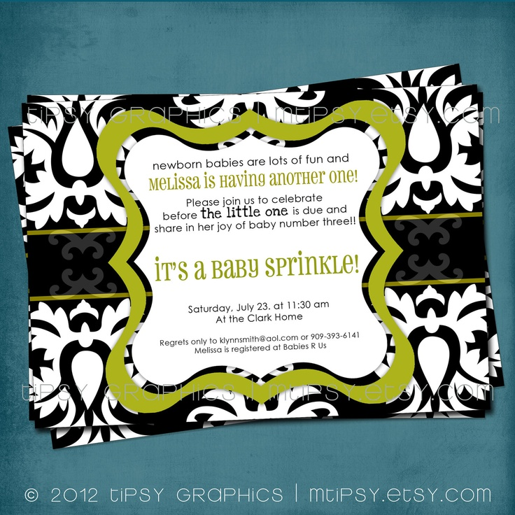 pink black and white bridal shower invitations%0A Black  u     White Damask Vintage Style Baby   Bridal Shower by MTipsy