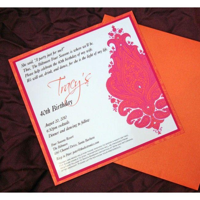 Birthday Invitation  Invitations  Pinterest