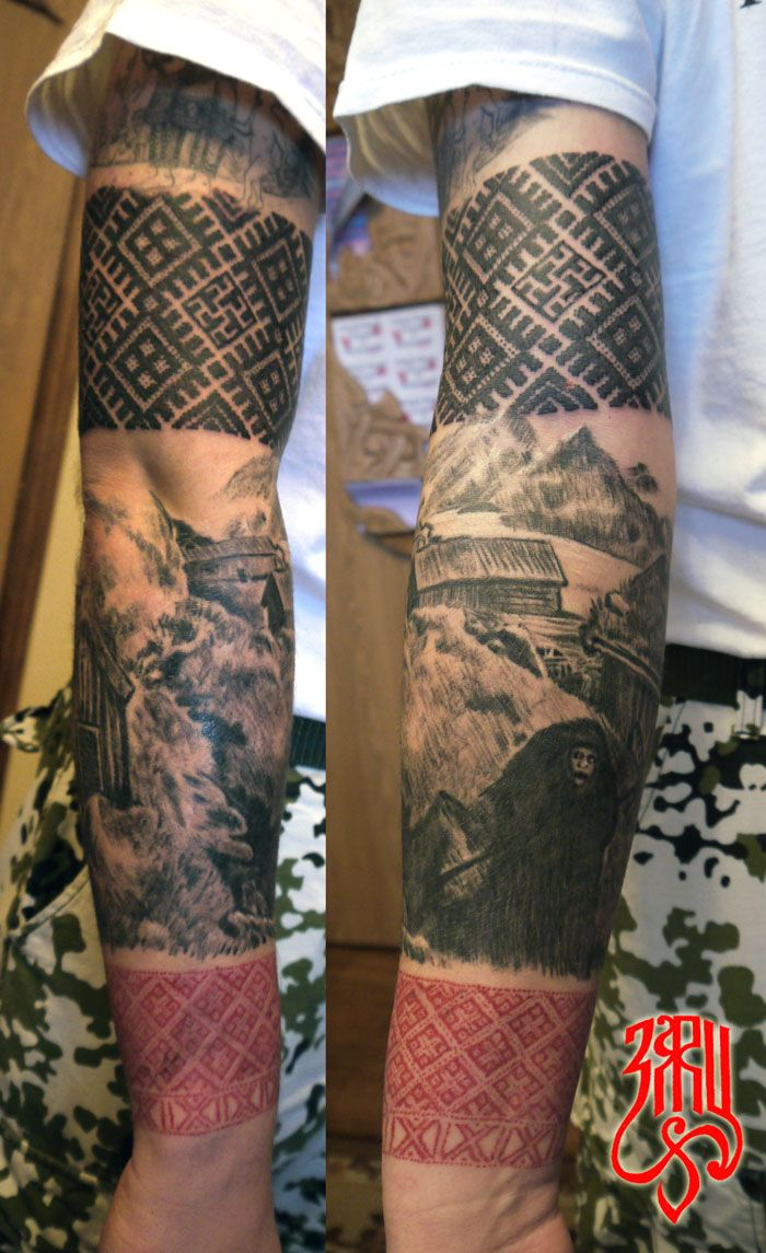 Slavic tattoo                                                                                                                                                                                 More
