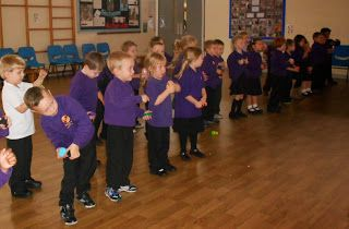 Foundation Stage Two: Dough Disco in the hall- why didn't I think of that!!