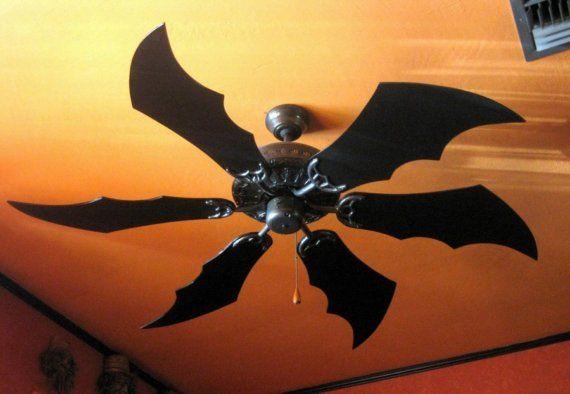 Bat / Dragon Wing Fan Blades  5 Blades by TheAtomicLounge on Etsy