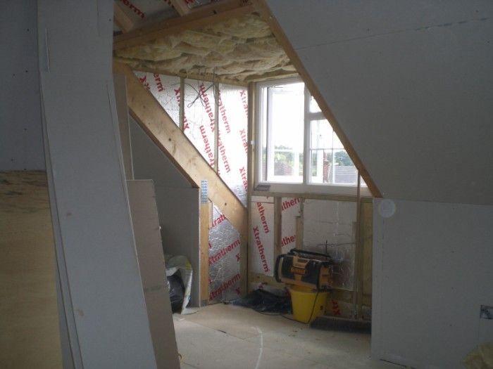 Interior Dormer Window During Loft Conversion For The