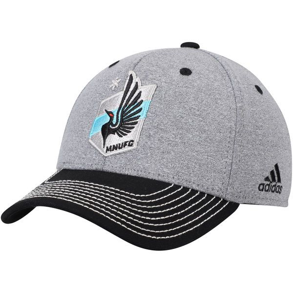 Men's Minnesota United FC adidas Gray/Black Two Tone Structured Adjustable Hat, Your Price: $24.99