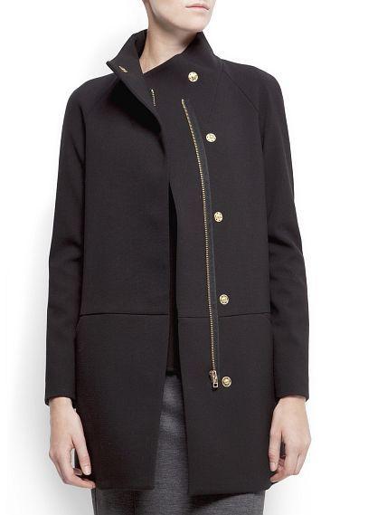Abrigo estilo minimalista