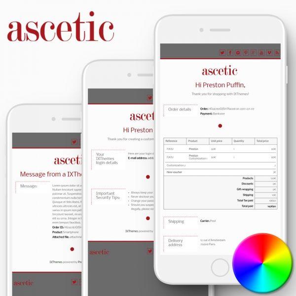 ASCETIC PrestaShop Email Templates
