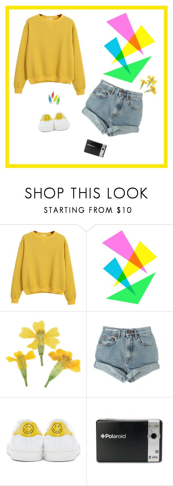"""""""•when you look at me like that, my darling, what do you expect?•"""" by tea-at-five ❤ liked on Polyvore featuring Chicnova Fashion, Levi's, Anya Hindmarch and Polaroid"""