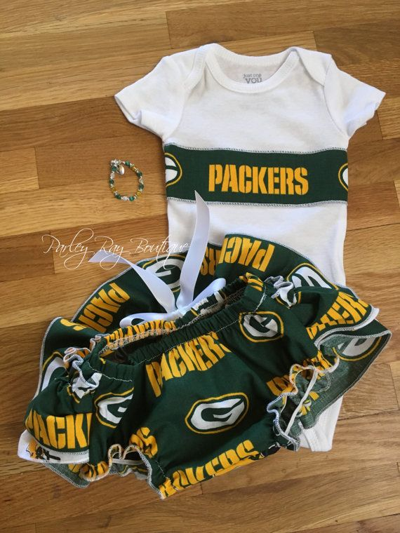 Parley Ray NFL Packers Ruffled Bloomers Bodysuit and by ParleyRay