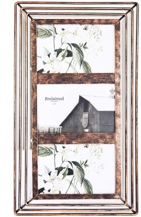 Farmhouse Bronze Finish 3 Opening Collage Frame Farmhouse Collage