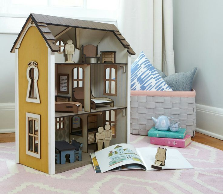 Fully assembled dollhouses