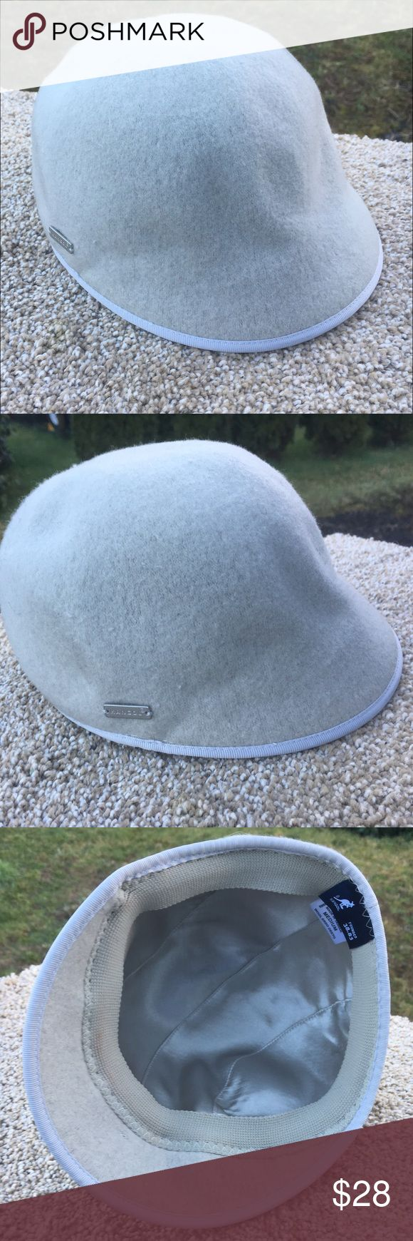 Kangol Cap Light gray worn a few times but still in great shape as the photos show.  Authentic (most receipts have been posted).  No trades  ✅Only respectable offers made thru the OFFER tool accepted ❣️Please be kind as that's what you'll get in return ☮️Thanks for the opportunity to share my goods w/ u Kangol Accessories Hats