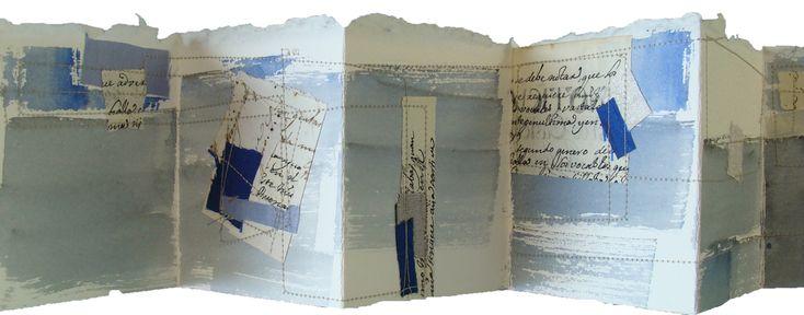 Mixed media collage journal by Blanca Serrano Serra