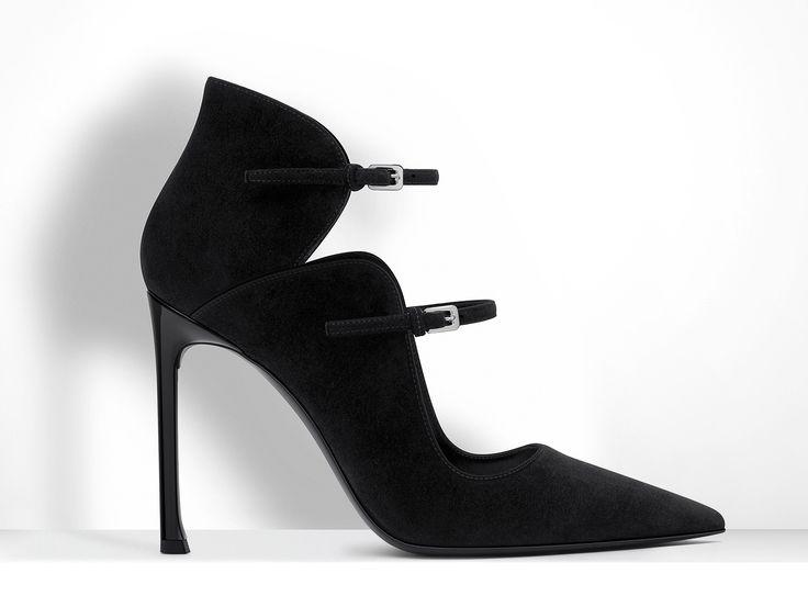 Christian Dior Black Suede Calfskin Pump 10 cm