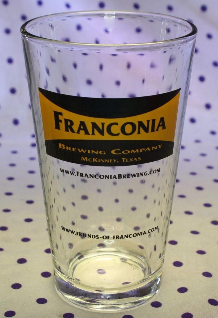 Franconia Brewing Company Mckinney Texas Pint Beer Glass Craft Brewery Barware