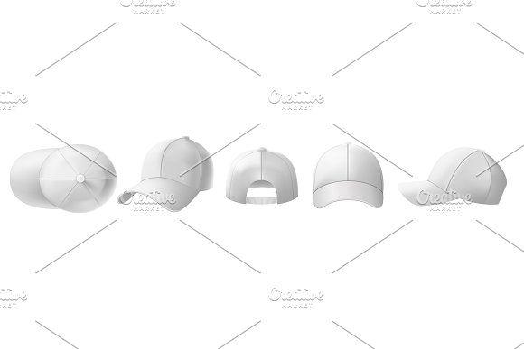 White Cap Mockup Sports Visor Hat White Caps Visor Hats Cap