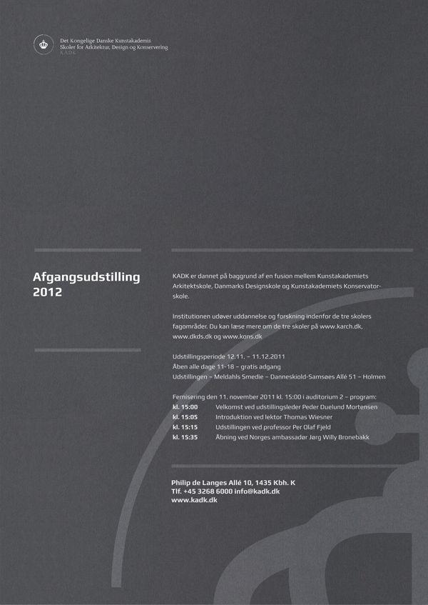 The Royal Danish Academy of Fine Arts - ADC on Behance