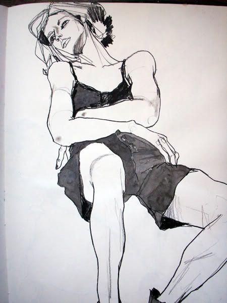 a sketch by Howard Tangye