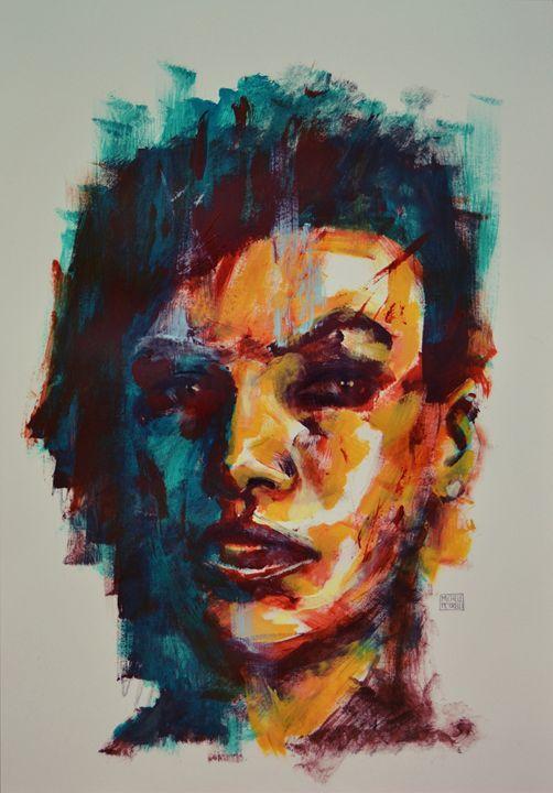 Black woman 2 - Michele Petrelli Painter