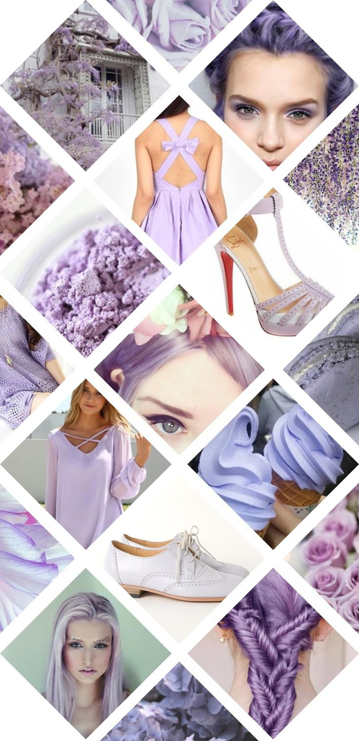 Rose Tinted Illustration: Lilac Love moodboard