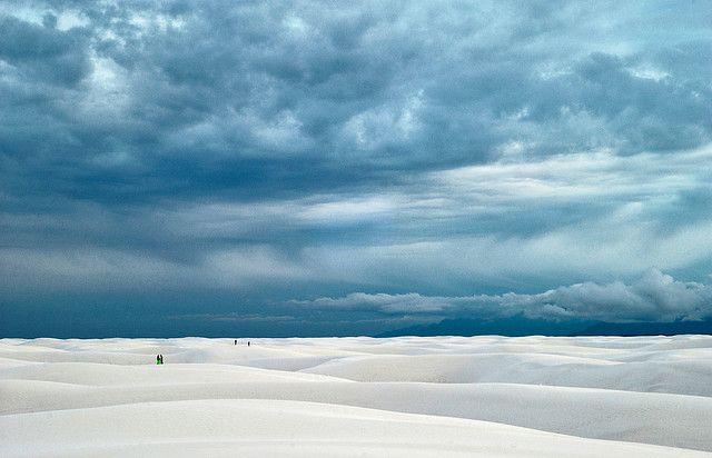 Las dunas del área protegida deArenas Blancasen Nuevo México, Estados Unidos