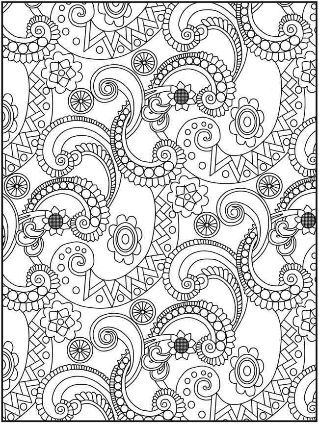 Welcome To Dover Publications Creative Haven Crazy Paisley Coloring Book