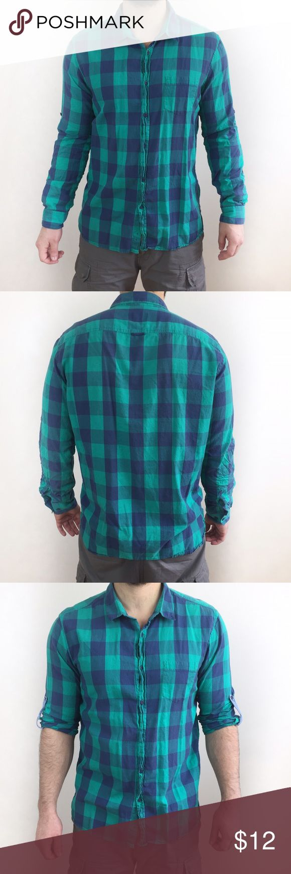 2x$15 PULL & BEAR ZARA PLAID SHIRT Pull and bear, Zara indicted sister company, plaid shirt in size XXL Europe, fits like a L USA. Used condition with look and feel of pre owned, no stains or holes. 1x$12 2x$15 Zara Shirts
